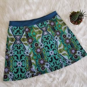 Prana Floral Abstract Skirt